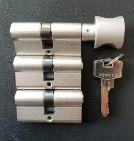 S2skg**s6 1 knop + 2 gewone cilinders 6 zaagsleutels -