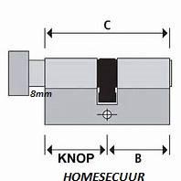S2skg**s6  veilig wonen set  1 knopcilinder 2 gwone cilinder  6 zaagsleutels -