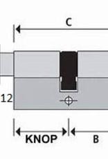 ISEO F6 Extra S SKG*** Cilinder 70 mm 30/40 wil u de cilinder gelijksluitend hebben of voorzien van knop ?