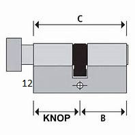 ISEO F6 Extra S SKG*** Cilinder 60 mm 30/30 wil u de cilinder gelijksluitend hebben of voorzien van knop