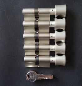 S2skg**F6 5 gelijke knopcilinders 8 keersleutels