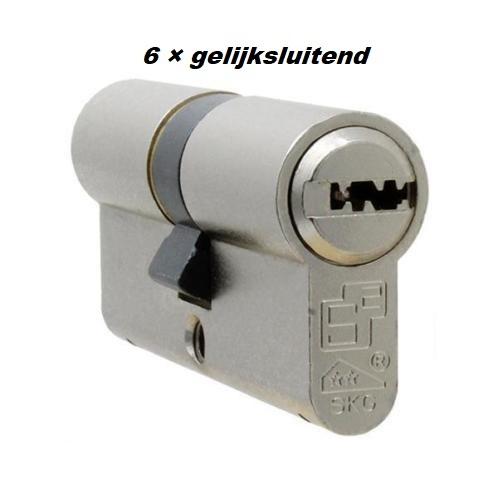 S2skg**F6 6 gelijksluitende cilinders skg**f6 60 mm 30/30  met 18 veilige putsleutels - Copy
