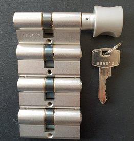 S2skg**s6 1 knop + 3 gewone cilinders 8 zaagsleutels