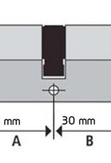 S2skg**F6 3 gelijksluitende cilinder 1 knop en 2 gewone