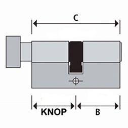 S2skg**s6 Knopcilinder  95 mm knop45/50