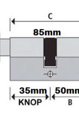 S2skg**s6 Knopcilinder 85 mm knop35-50 met zaagsleutels