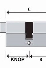 S2skg**s6 Knopcilinder  100 mm knop50-50