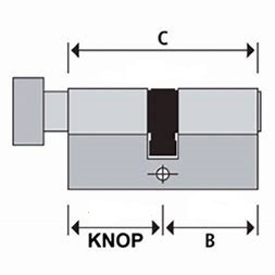 S2skg**s6 Knopcilinder100 mm knop30-70