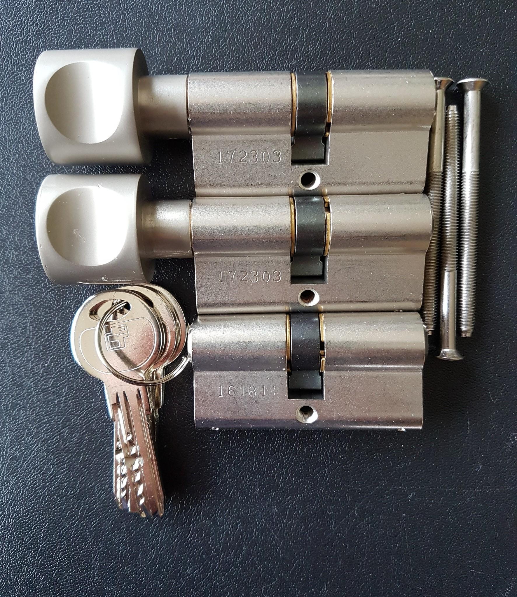 S2skg**F6 Knopcilinder s2skg**f6 95 mm knop30-65 keersleutels