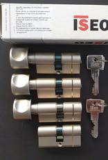ISEO F6 Extra S SKG*** Cilinder 95 mm 40-55 wil u de cilinder gelijk sluitend hebben of voorzien van knop ?