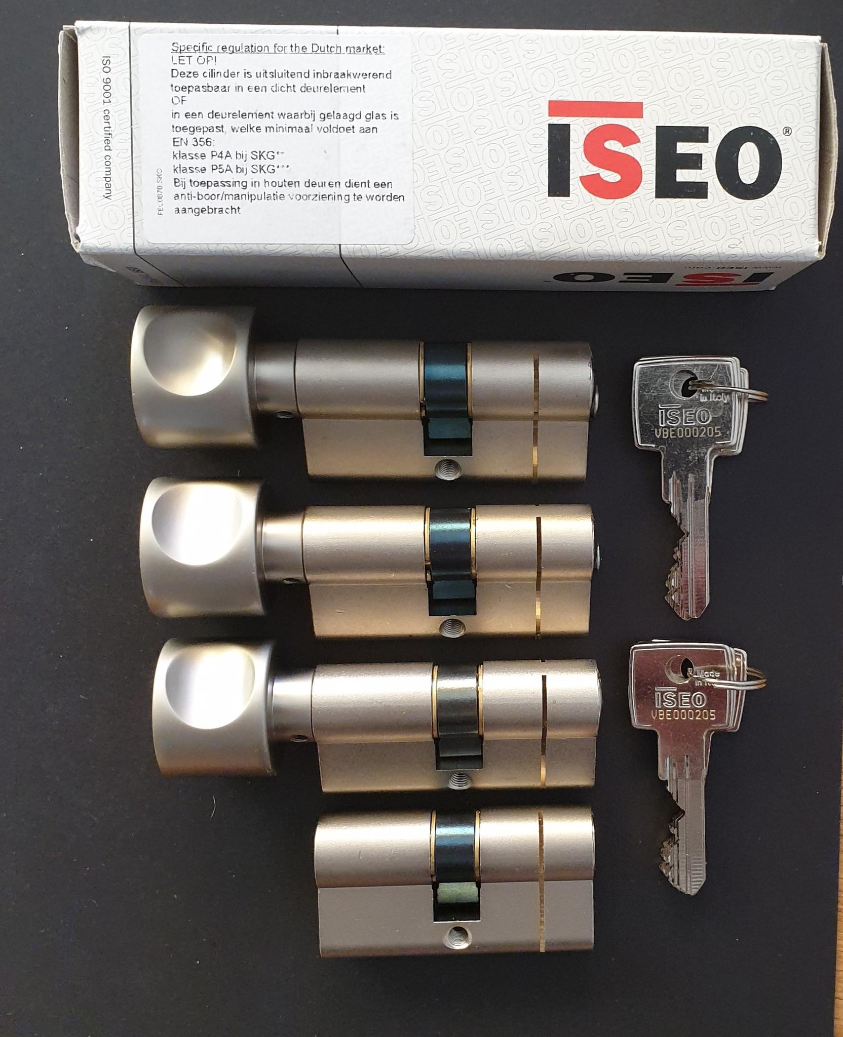 ISEO F6 Extra S SKG*** Cilinder 100 mm 40-60 wil u de cilinder gelijk sluitend hebben of voorzien van knop ?