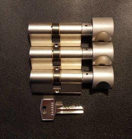 S2skg**s6 3 gelijke knopcilinders 75 mm