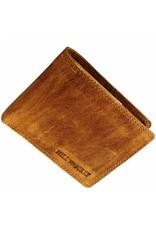 Hill Burry Herren Geldbörse Geöltes Rindleder Viele Kreditkartenfächer Cognac