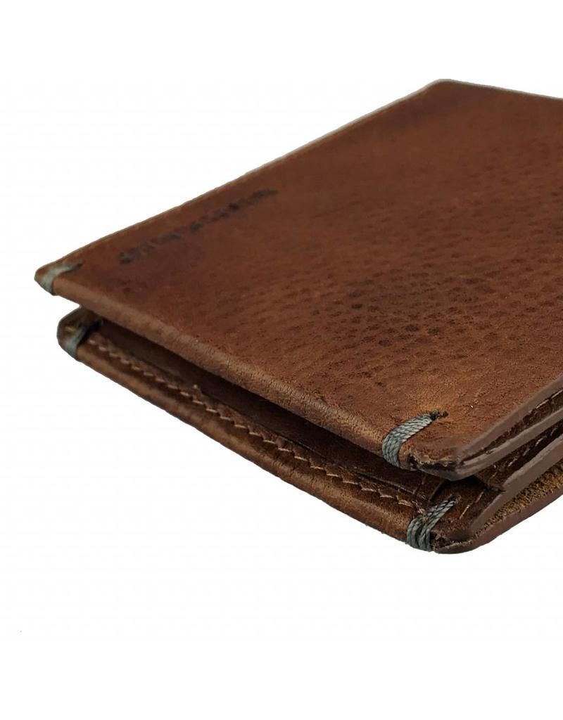 370410d9189 Burkely Heren Portemonnee Vintage Plat Cognac - Barneys Leather