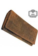 Damen RFID Geldbörse Mit Großem Kleingeldfach