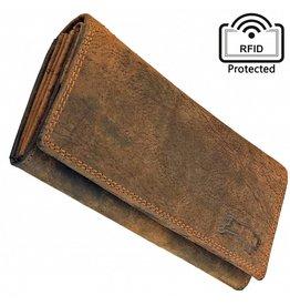 Stoere Dames RFID Portemonnee Met Kleingeldbak