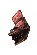 Kleine Damen Geldbörse Washed Leather Braun