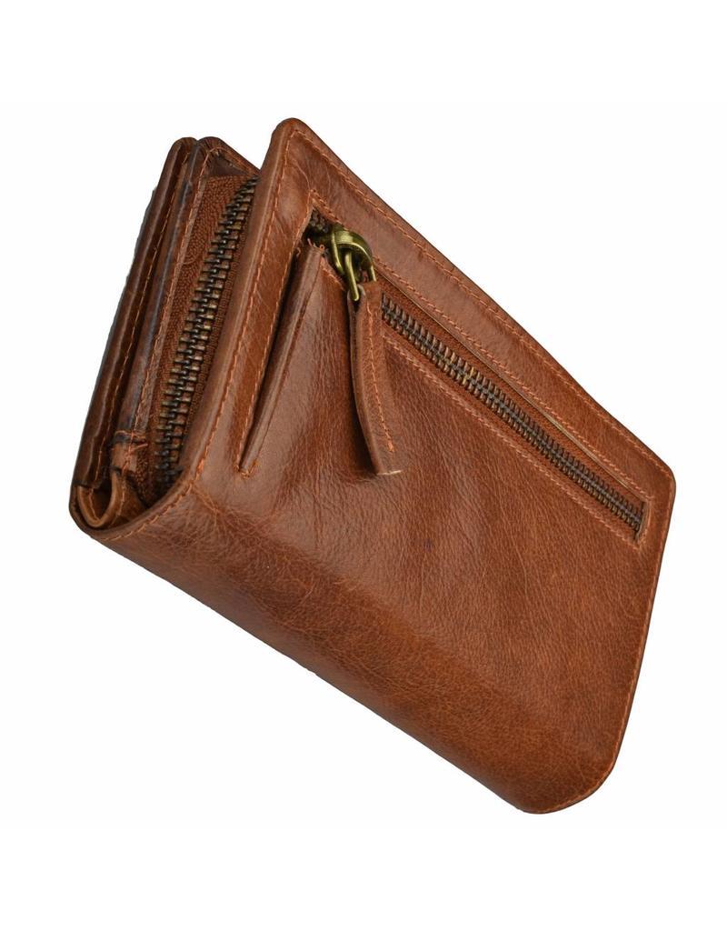 GAZ Luxus RFID Leder Damen Reißverschluss Geldbörse Extrem Viele Kreditkartenfächer