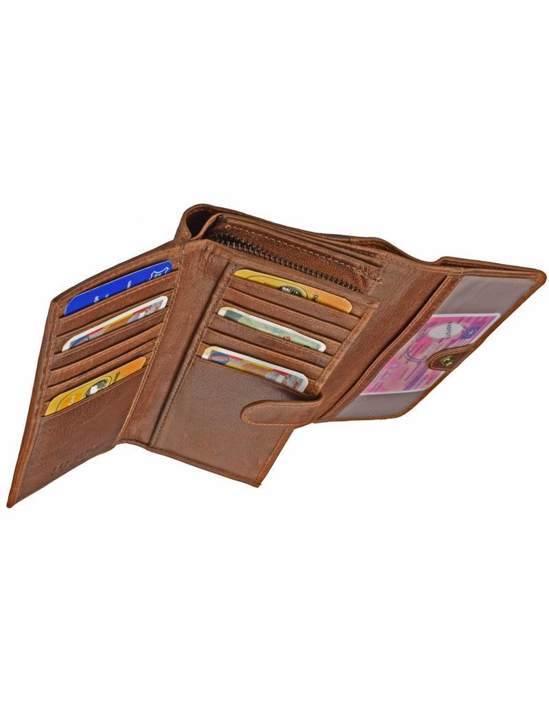 GAZ Luxe Lederen Dames Portemonnee Veel Pasjes RFID Protected