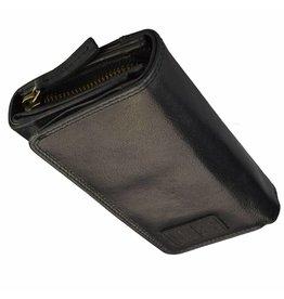 GAZ Luxus RFID Damen Portemonnaie Viele Kreditkartenfächer Viele Kreditkartenfächer Schwarz