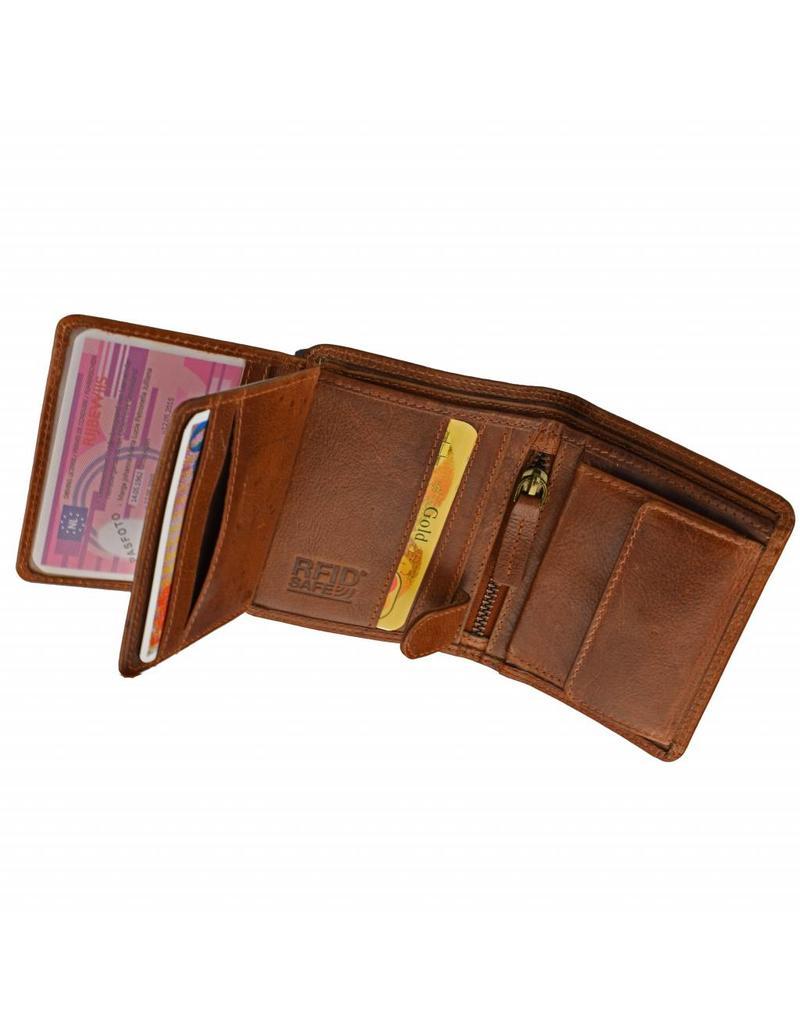 GAZ Kleine Herren Portemonnaie Hochformat Viele Kreditkarten
