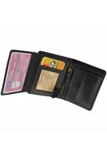 GAZ Kleine Herren Portemonnaie Hochformat Schwarz Viele Kreditkarten RFID