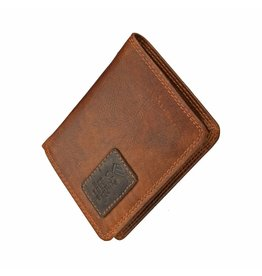 GAZ Kleine Heren Portemonnee Cognac Hoog Formaat RFID