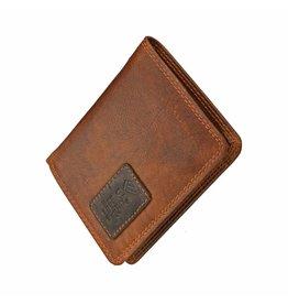 GAZ Kleine Herren Portemonnaie Hochformat Cognac RFID