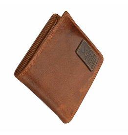 GAZ Platte Heren Portemonnee Cognac Laag Formaat RFID