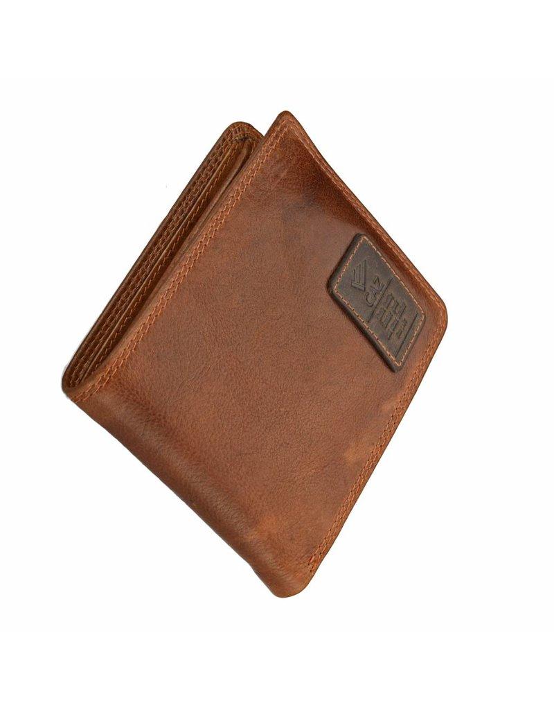GAZ Flache Herren Portemonnaie Querformat Cognac RFID