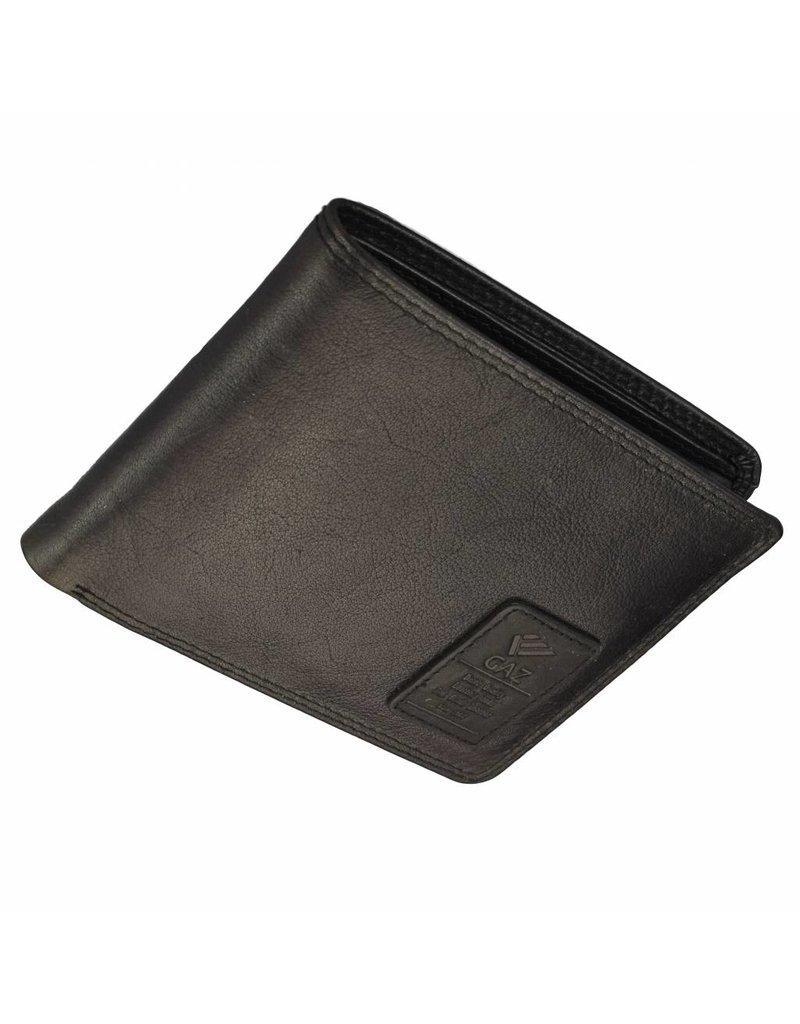 GAZ Platte Heren Portemonnee Zwart Laag Formaat RFID
