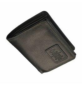 df7253e7d31 GAZ Kleine Heren Portemonnee Veel Pasjes Zwart RFID