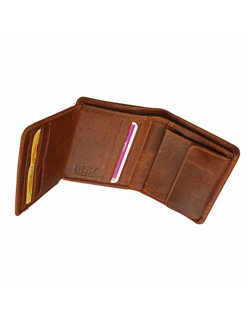 GAZ Herren Portemonnaie Hochformat Cognac RFID