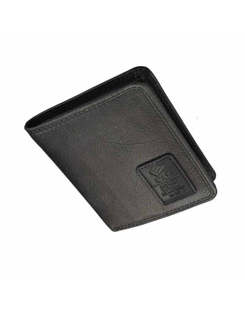 GAZ Compacte Heren Portemonnee Zwart Hoog Formaat RFID