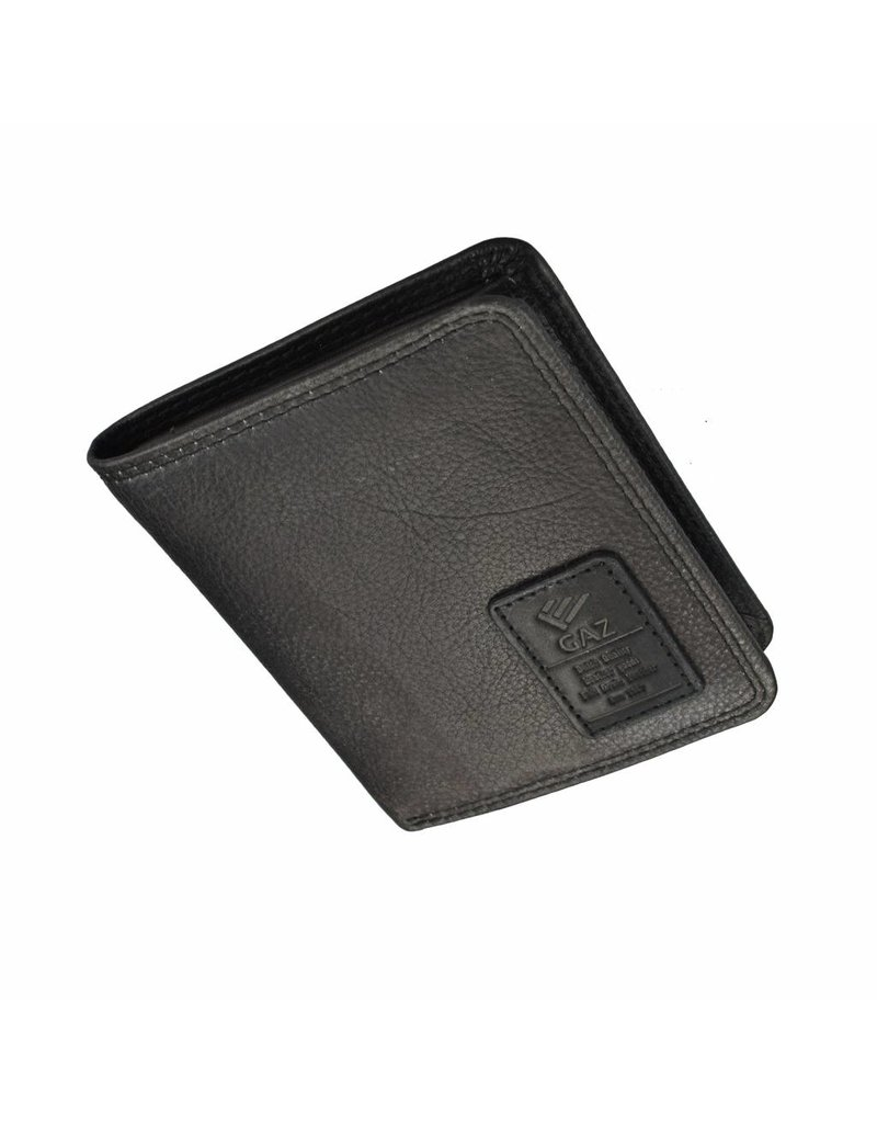 GAZ Herren Portemonnaie Hochformat Schwarz RFID
