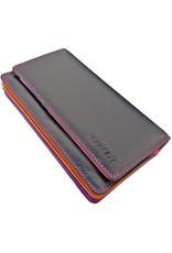 Burkely Multicolor Leder Damen Akkordeon Geldbörse Umschlag Dunkles Violett