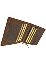 Greenburry Vintage Leder Geldbörse Geldscheinklammer Dollarclip Portemonnaie