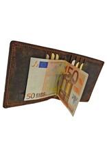 Greenburry Luxe Handgemaakte Leren Dollar Clip Portemonnee