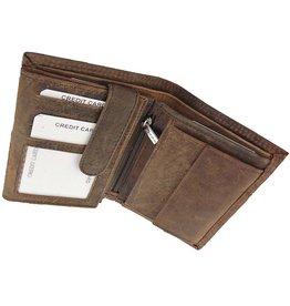 Barneys Robuste Leder Herren Portemonnaie Viele Kreditkartenfächer Leder Gefüttert Hochformat