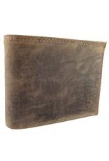 Barneys Robuste Leder Herren Portemonnaie Viele Kreditkartenfächer Leder Gefüttert Querformat