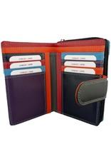 Burkely Reißverschluss Geldbörse Multicolor Schwarz