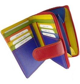 Burkely Reißverschluss Geldbörse Multicolor Rot