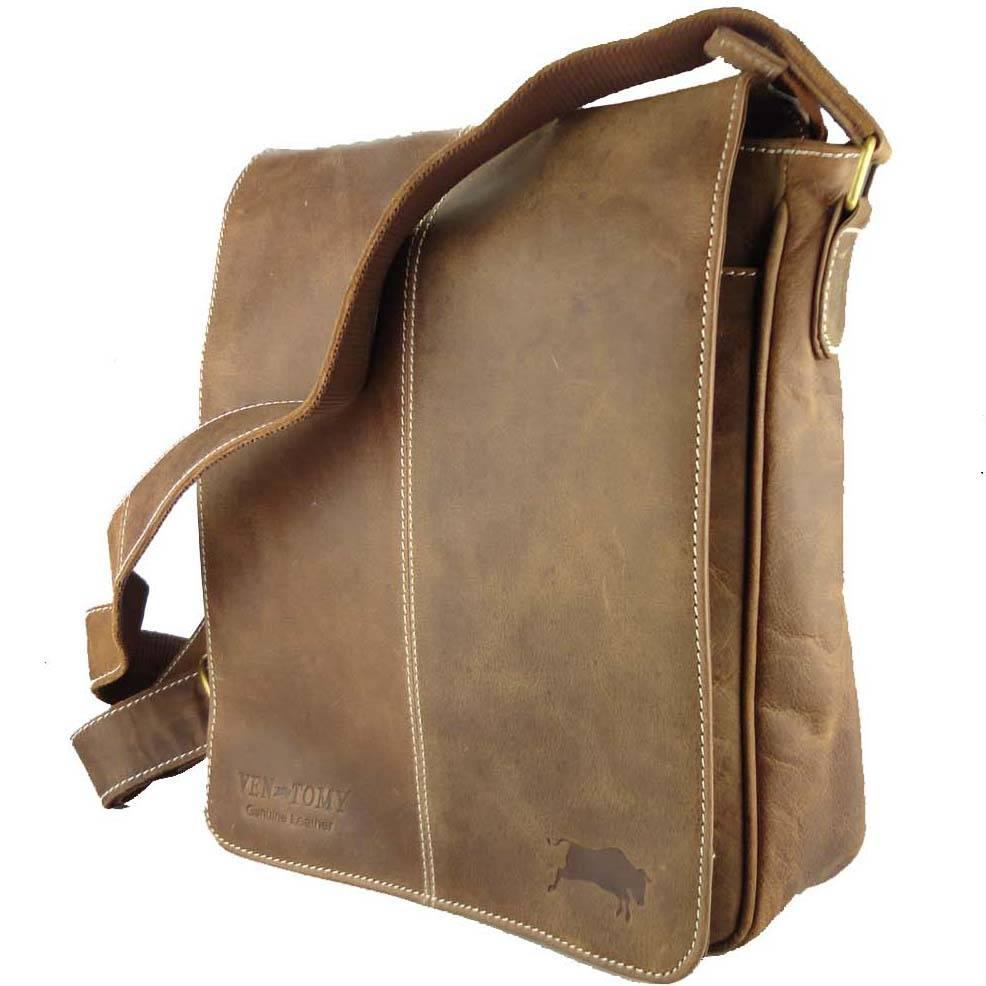 604f834e614 Leren Heren Schoudertas Overslag Hunterleer A4 - Barneys Leather