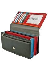 Burkely Geldbörse Akkordeon Multicolor Schwarz