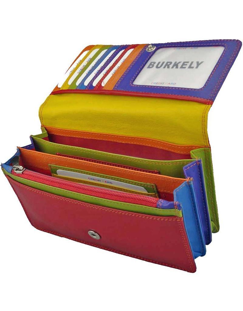 03f3b70f63f Burkely Harmonica Portemonnee Multicolor Rood Nappa - Barneys Leather
