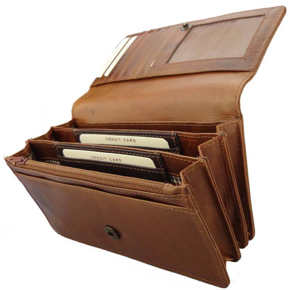 Mooie Portemonnee Dames.Leren Harmonica Portemonnee Cognac Barneys Leather