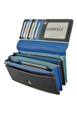 Burkely Geldbörse Akkordeon Multicolor Blau