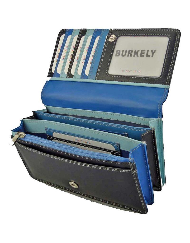 Burkely Harmonica Portemonnee Multicolour Blauw