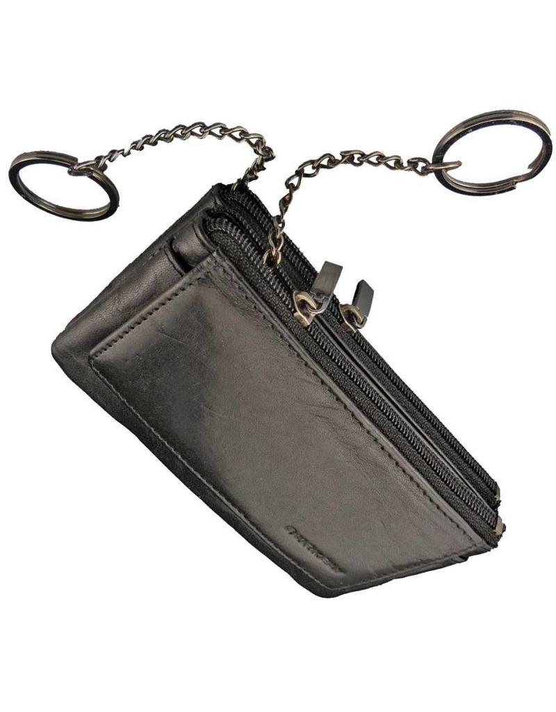 Burkely Schlüsseletui Schlüsselmäppchen Vollrindsleder Schwarz