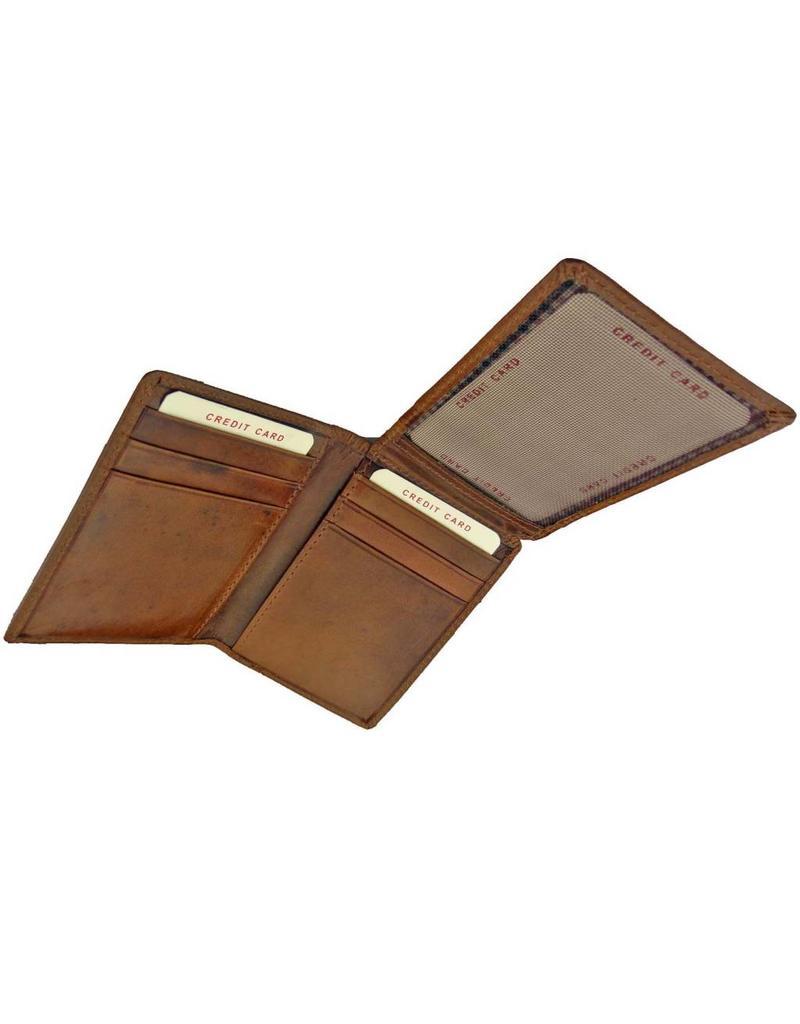 Burkely Luxus Flacher Lederner Kartenbehälter Vollrind Cognac